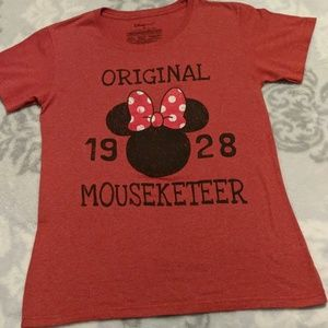 Disney Minnie Mouse Original Mouseketeer Red Shirt